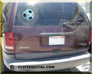 Soccer ball decal for your car.