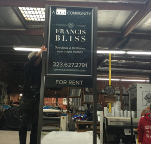Large Format Francis Bliss Display